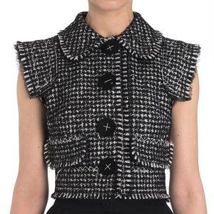 Dolce & Gabbana houndstooth wool vest